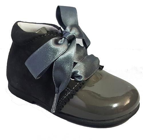 PATALETAS - Botines de vestir en charol piel y Ante Piel (incluidos cordones y lazos