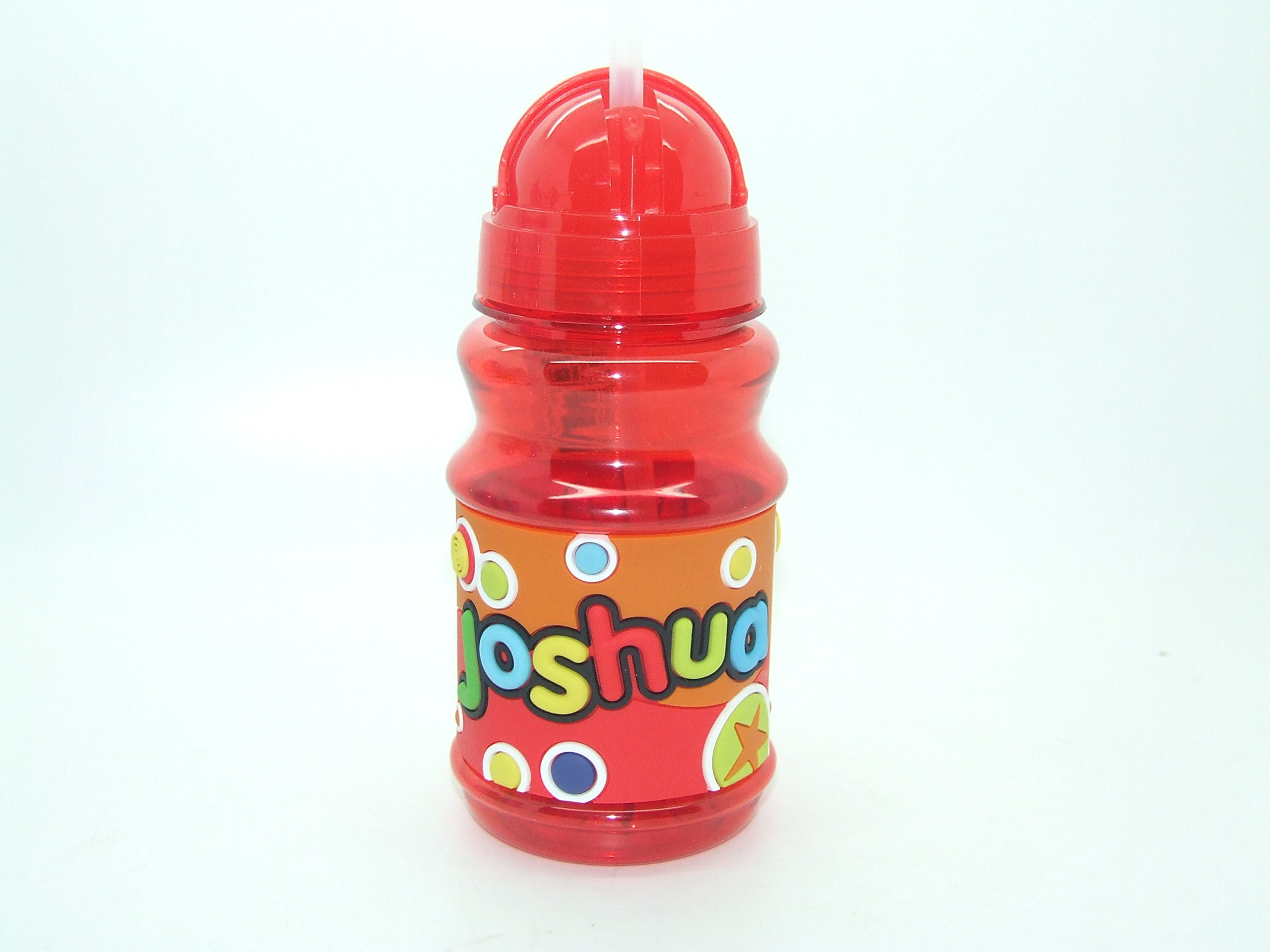 JOSHUA PERSONALISED HANDY FLIP TOP BOTTLE BPA FREE LID SEALS THE STRAW SO PERFECT FOR LUNCH BAGS 16CM HEIGHT - PLEASE NOTE BOTTLE NAMES CAN NOT BE CHANGED THE NAME YOU WILL RECEIVE IS IN THE TITLE