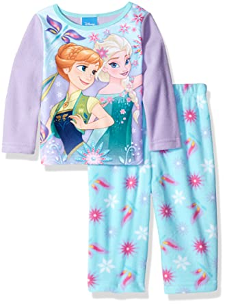 2e1a5095befa Amazon.com  Disney Baby Girls  Frozen 2-Piece Fleece Pajama Set ...