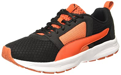 57f6d3dbab3 Puma Men s Deng Black-Cherry Tomato Running Shoes - 10 UK India (44.5