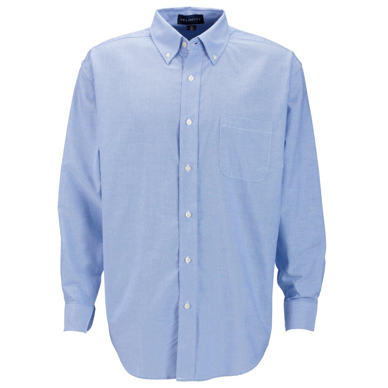 Vantage Mens Velocity Oxford Button Down Dress Shirt