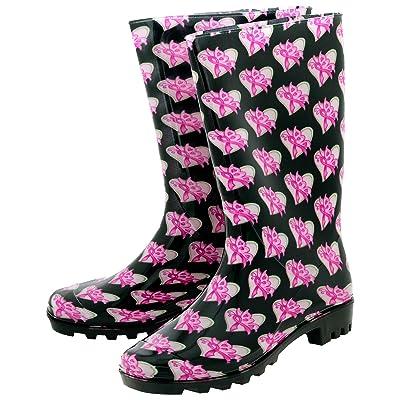 GreaterGood Pink Ribbon Butterfly Ultralite Rain Boots   Rain