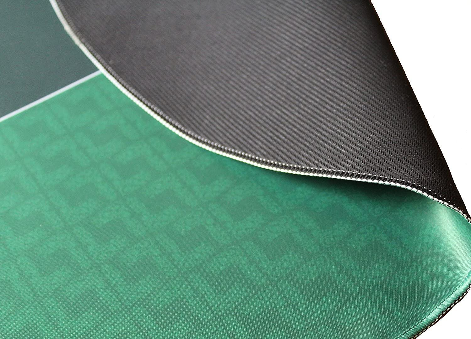 Table Top Layout for Texas Holdem Bullets Playing Cards Poker Mat Cloth 120cm round