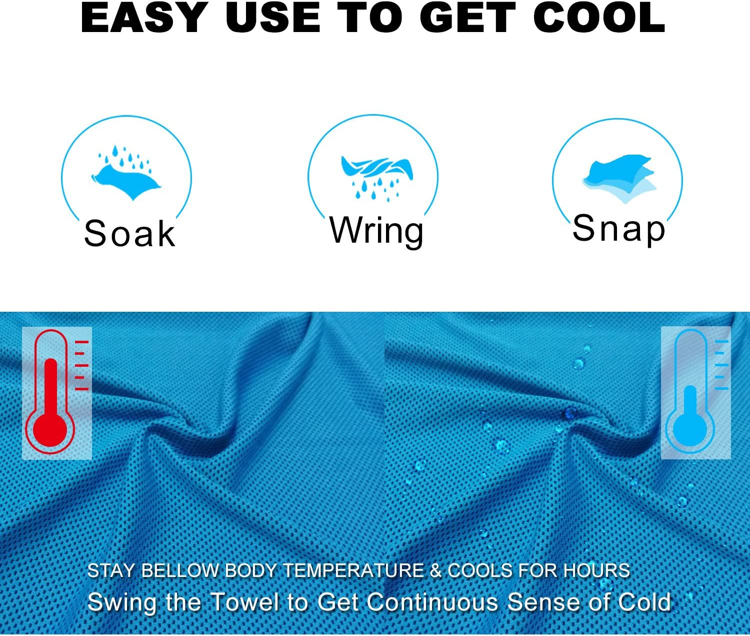 Hiking Chilly Headband Bandana Scarf Running Sport Yoga Gym Cool Cold Towels for Men//Women Microfiber Towel Balhvit 2 Pack Instant Relief Cooling Towel for Neck Ice Towel Workout