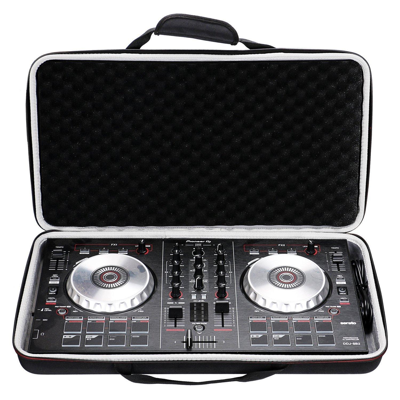 LTGEM Case for Pioneer DJ DDJ-SB2/DDJ-SB3 Portable 2-channel Controller or DDJ-SB Performance DJ Controller-Black CS083CA