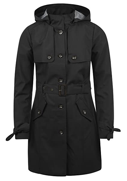 premium selection 44e60 636e2 DESIRES Tina Damen Trenchcoat Mantel Übergangsjacke mit Kapuze