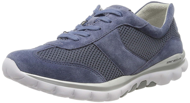 Bleu Bleu (Nautic 26) Gabor chaussures Rollingsoft, paniers Basses Femme