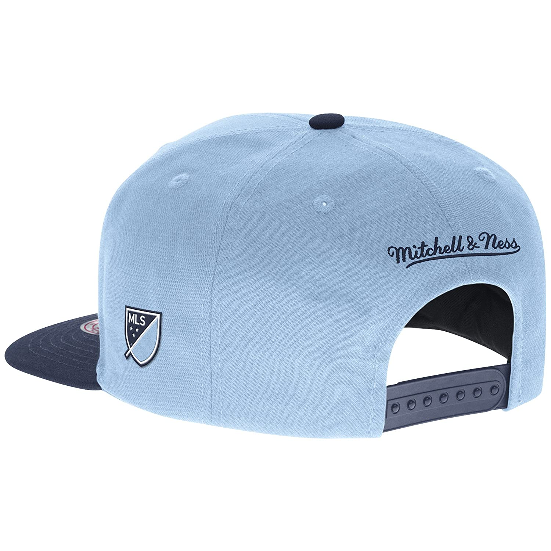 Mitchell and Ness Sporting Kansas City 2 Tone Team Logo Snapback Cap Blue//Navy