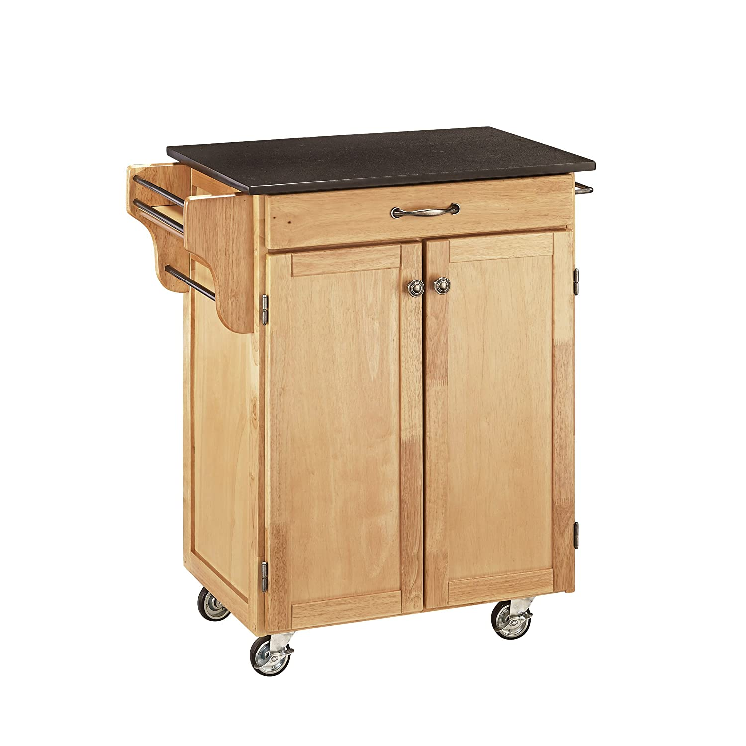 Create-a-cart Natural Kitchen Cart with Granite Top by Home Styles