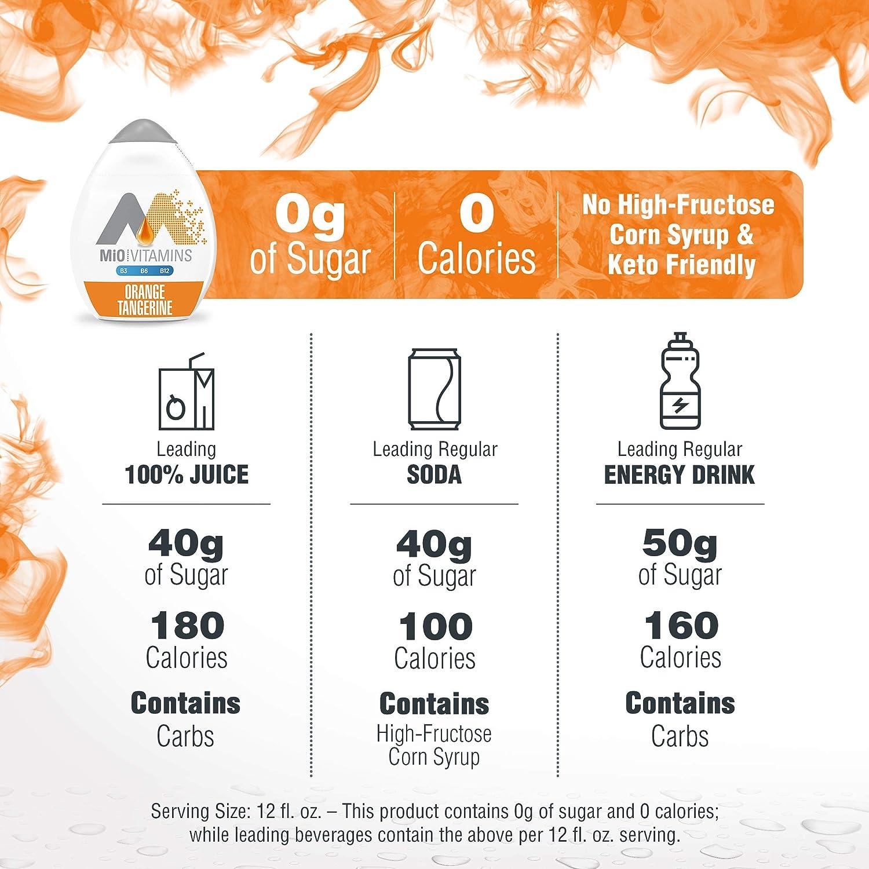 Mio Orange Tangerine Liquid Water Enhancer Drink Mix (1.62 fl oz Bottle) : Beverage Flavoring Syrup : Grocery & Gourmet Food