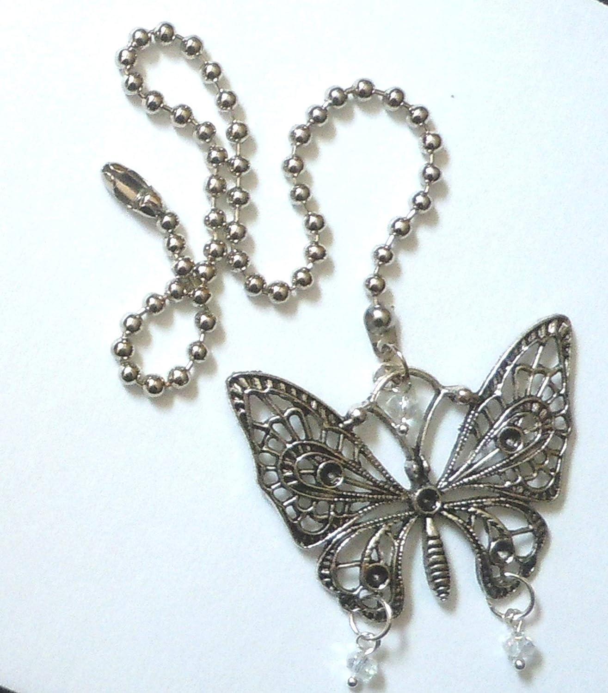 Butterfly Ceiling Fan Light Pull Bedroom Teen Tween Nursery Romantic Home decor