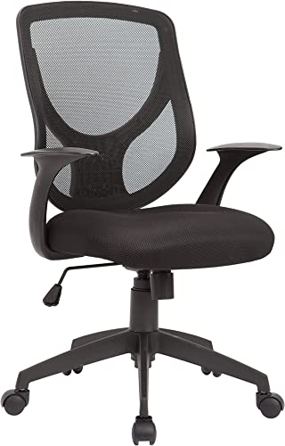AC Pacific Contemporary Gas Lifted Mesh Upholstered Adjustable Swivel Office Chair