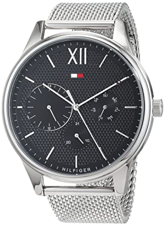 Tommy Hilfiger Herren Multi Zifferblatt Quarz Uhr mit Edelstahl Armband  1791415  Amazon.de  Uhren 73ba93190f