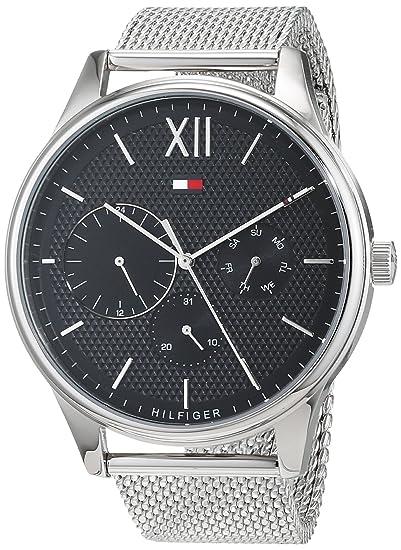 Tommy Hilfiger Reloj Multiesfera para Hombre de Cuarzo con Correa en Acero Inoxidable 1791415: Amazon.es: Relojes