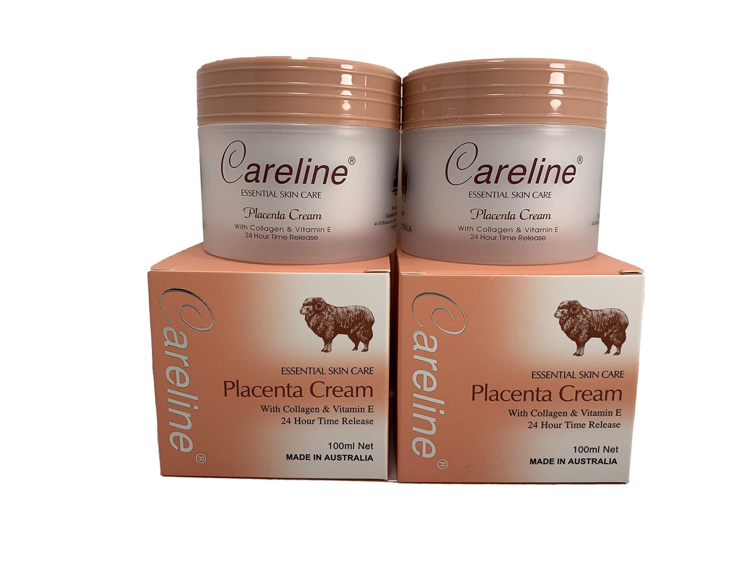 Careline Placenta CreamWith Collagen&Vitamin E 100ml x 2 Boxes