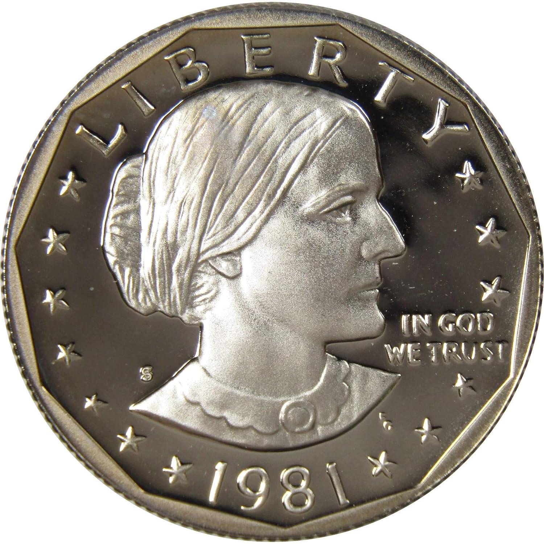 1979 1980 1981 Proof SBA Susan B Anthony Dollars 3 Coin Set Gem Proof