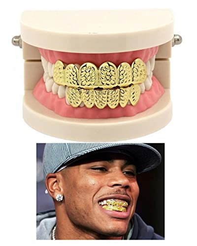 Amazon.com  Daycindy 14k Gold Plated Hip Hop Mouth Grills Teeth for Women  Men  Jewelry dd4fc1e4a4