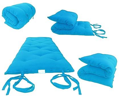 Du0026D Futon Furniture Brand New Full Size Turquoise Traditional Japanese  Floor Futon Mattresses, Foldable Cushion