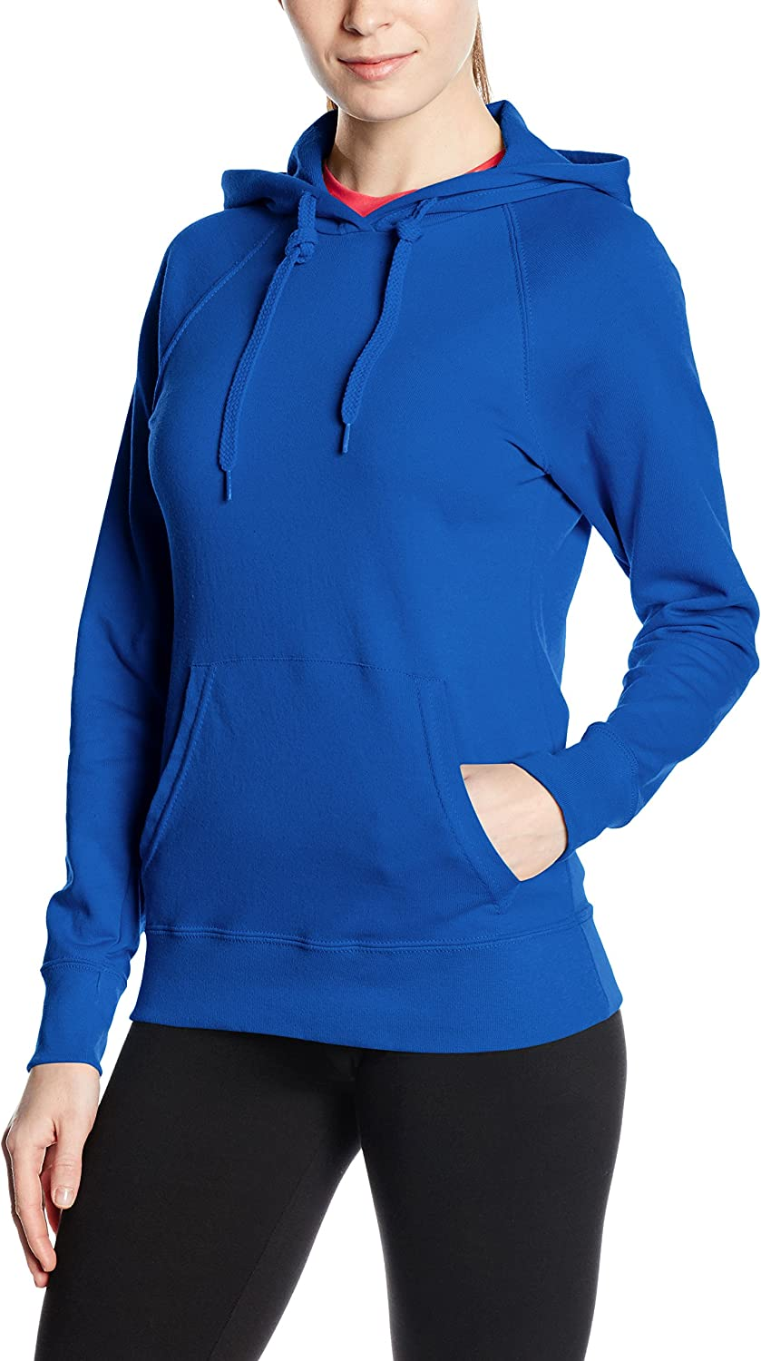 Fruit of the Loom Womens Pull-over Lightweight Hooded Sweat