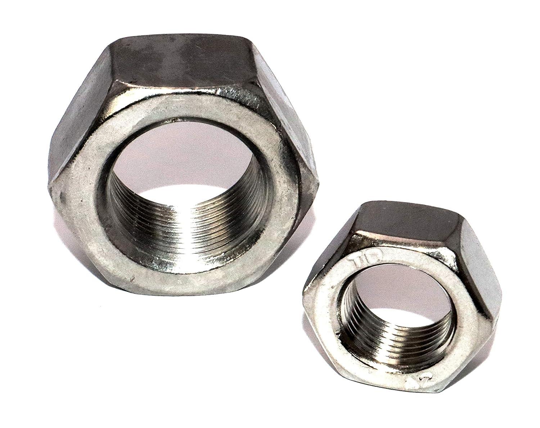 Sechskantmuttern M12x1,5 Feingewinde DIN 934 St/ückzahl 5 Edelstahl A2 Form B Festigkeit 70 Schraubenmutter Gewindemuffen Gewindemuttern