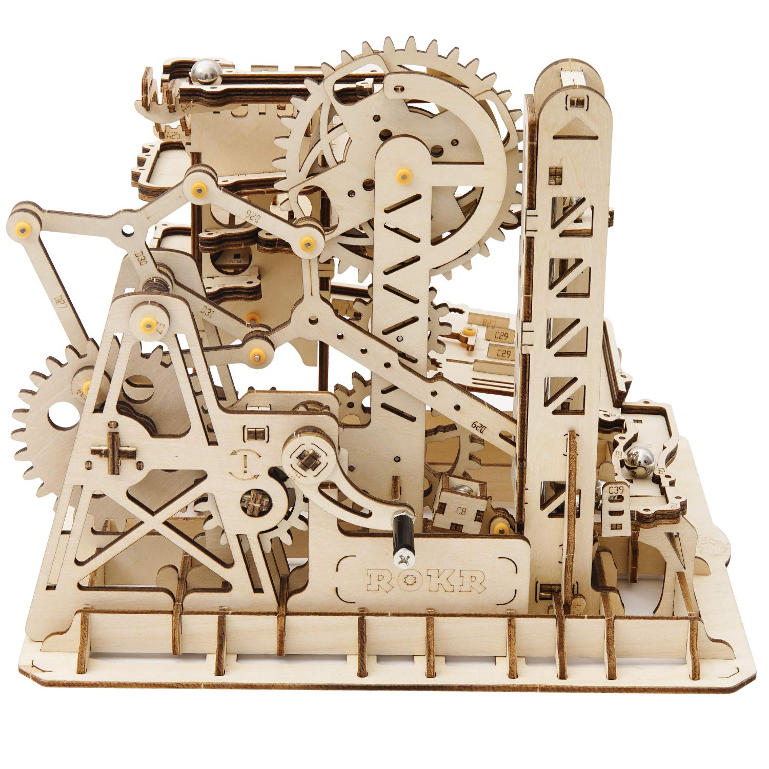 ROKR Mechanical Gears DIY Building Kit Mechanical Model Construction Kit with Balls for Teens and Adults Tower Coaster by ROKR