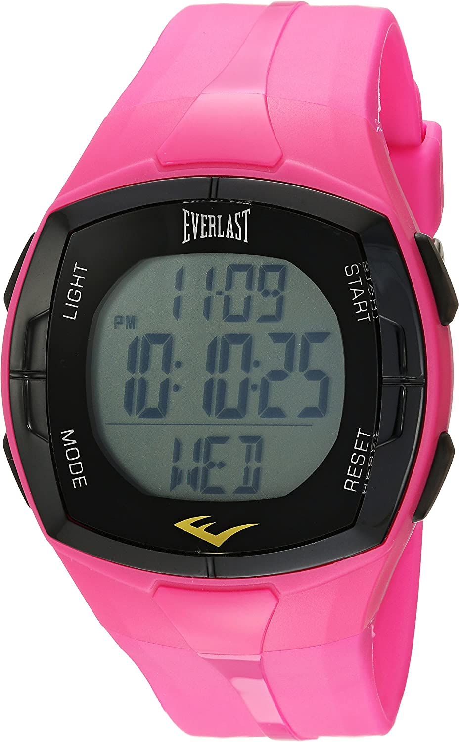 Everlast Chinese-Automatic Fitness Watch with Rubber Strap, Pink, 22 Model EVWHR002PK
