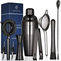 9 - Piece Cocktail Shaker Set by Angimio - Black