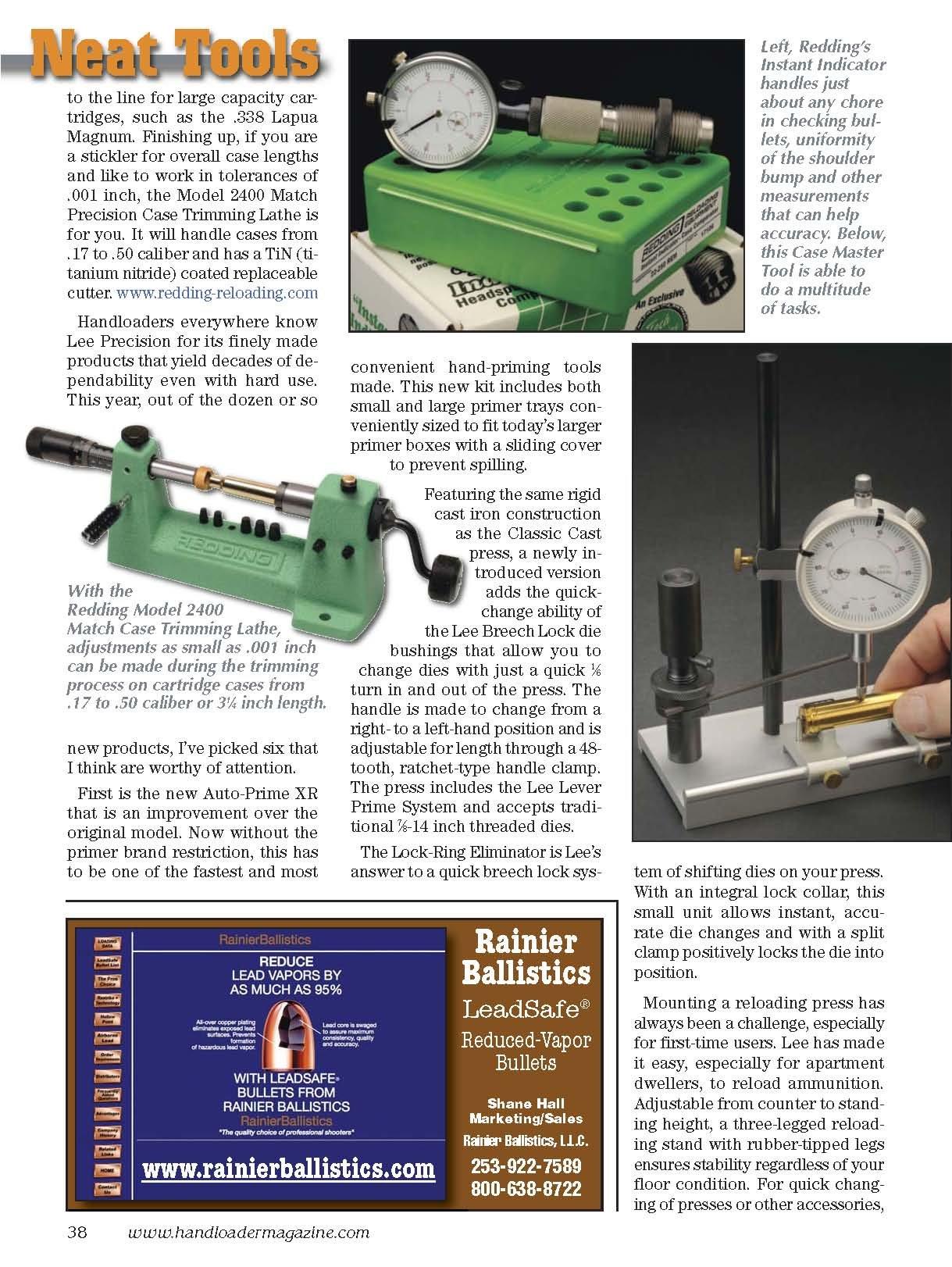 Handloader Ammunition Reloading Journal - October 2011