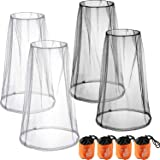 4 Pack Mosquito Head Net Face Mesh Net Head Protecting Net for Outdoor Hiking Camping Climbing Walking Mosquito Fly Insects Bugs Preventing (Regular Size, Grey, Black)
