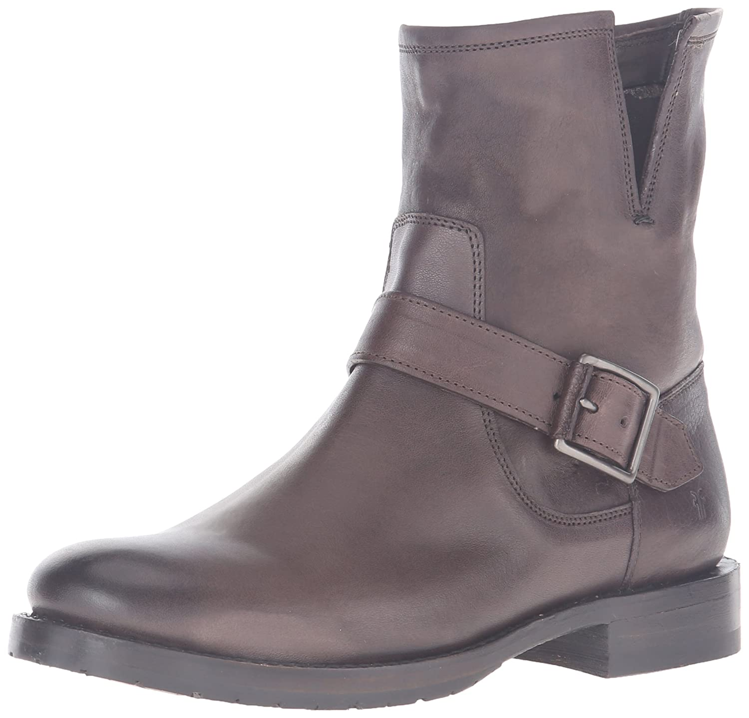 FRYE Women's Natalie Short Engineer Boot B0193YXC44 6.5 B(M) US|Charcoal