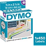 DYMO Authentic LW Barcode Labels for LabelWriter for Label Printers, White, 3/4'' x 2-1/2'', 1 roll of 450 (1738595)