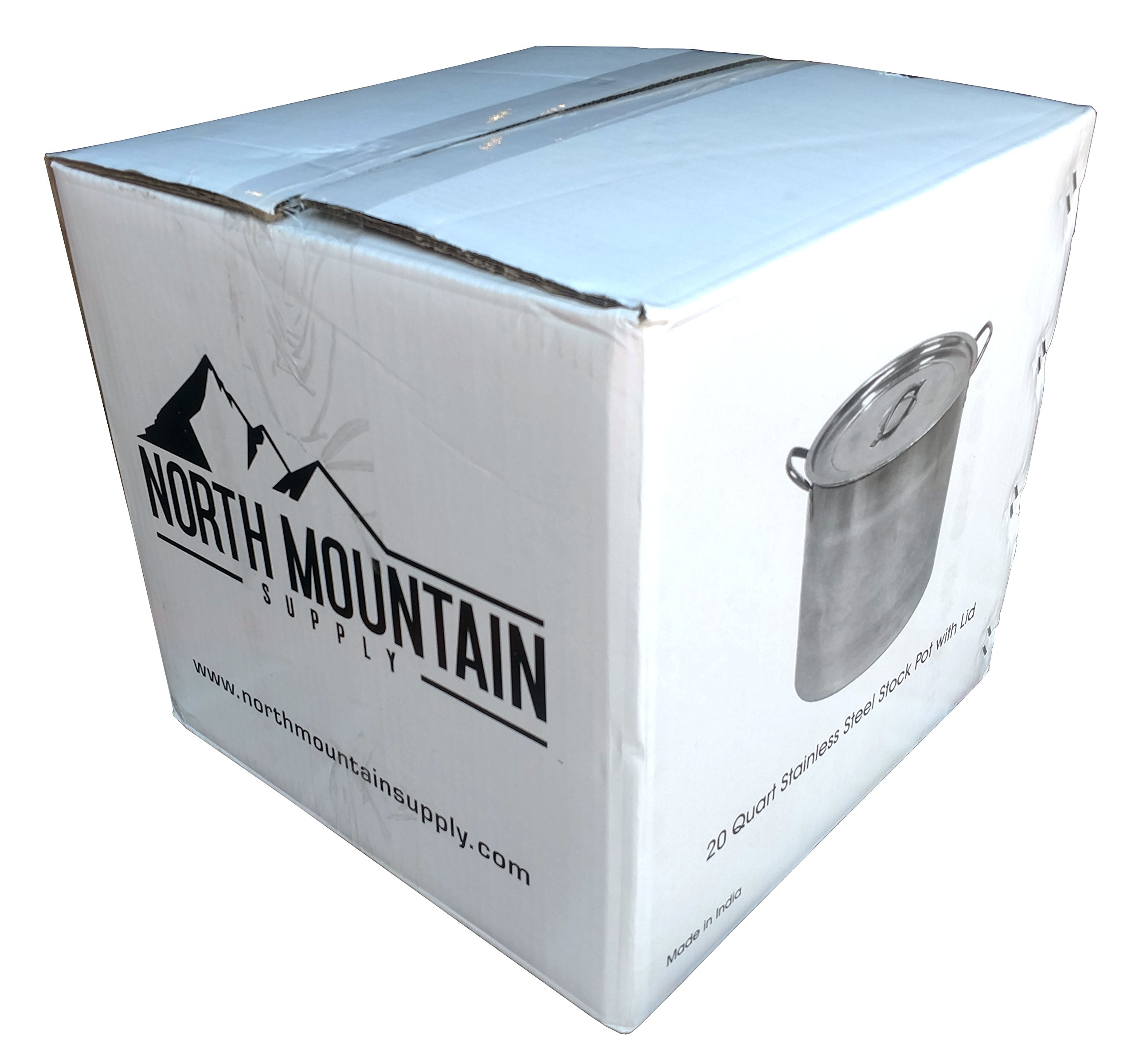 Beer Brewing Boiling Pot 5 Gallon Stainless Steel With Lid by North Mountain Supply