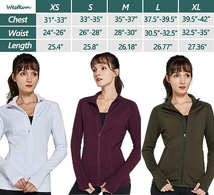 Westkun Women Fleece Running Jacket Warm Long Sleeve Slim Fit Lightweight Full Zip up Yoga Active Workout Jackets Top