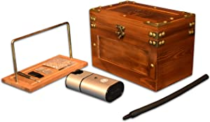 "Cocktail Smoker Box Smoking Gun Wood Smoke Infuser I Indoor Smoker Wooden Box 9""x 5"" x 6"" with Smoke Infuser 4.7"" x 2.4"" x 1.4"" I Portable Smoke Generator Smoking Accessories"