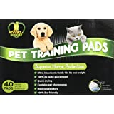 SUPERIOR PUPPY PAD & DOG TRAINING PADS ★ Quick Dry ★ Powerful Protection to Protect Floors ★ No Drips ★ No Leaks ★ Perfect Pee Mat for All Pets, Incontinence Dogs, Car Seats ★ Large ★ FREE eBook ★ Disposable