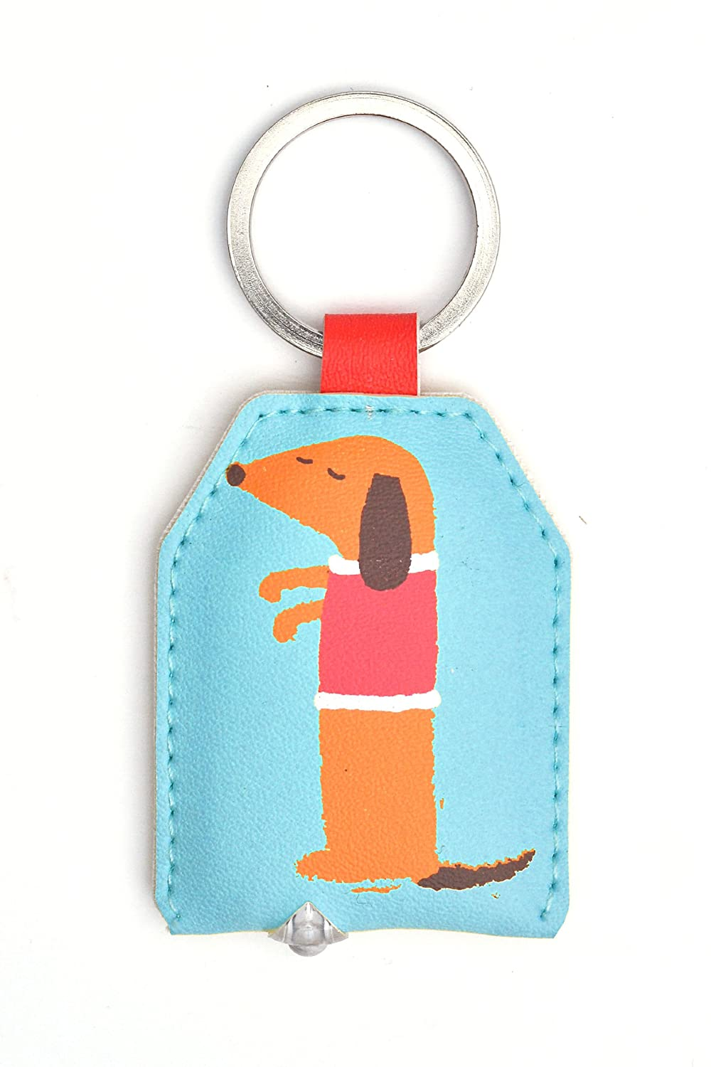 WPL Sausage Dog Keylight - Keyring with Built-in LED Torch - Gift Idea by WPL