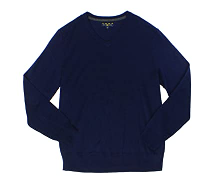 Club Room Mens Wool Blend V-Neck Pullover Sweater Navy S at Amazon ... 5fe61b25d