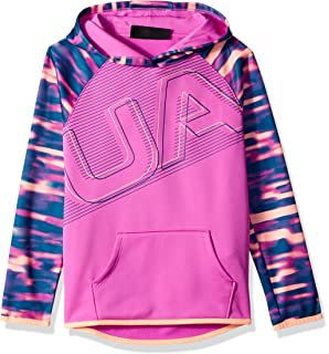 free shipping 28588 1ddeb Under Armour Girls Armour Fleece Logo Hoodie