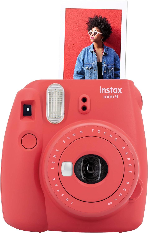 Fujifilm Instax Mini 9 - Rojo amapola (cámara instantanea, solo cámara): Amazon.es: Electrónica