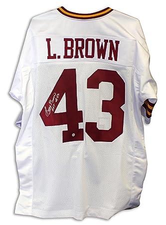 Larry Brown Washington Redskins Autographed White Jersey  Inscribed quot MVP quot  Autographed - Autographed ... 3c357222d