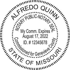 Amazon.com : Round Notary Pre-Inked Stamp for State of ...