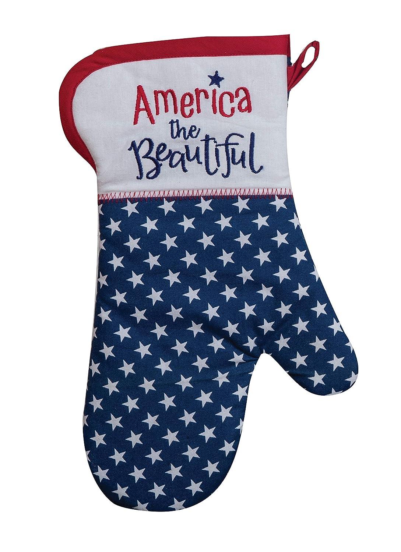 "Kay Dee Designs America The Beautiful Patriotic Oven Mitt, 13"", Various"