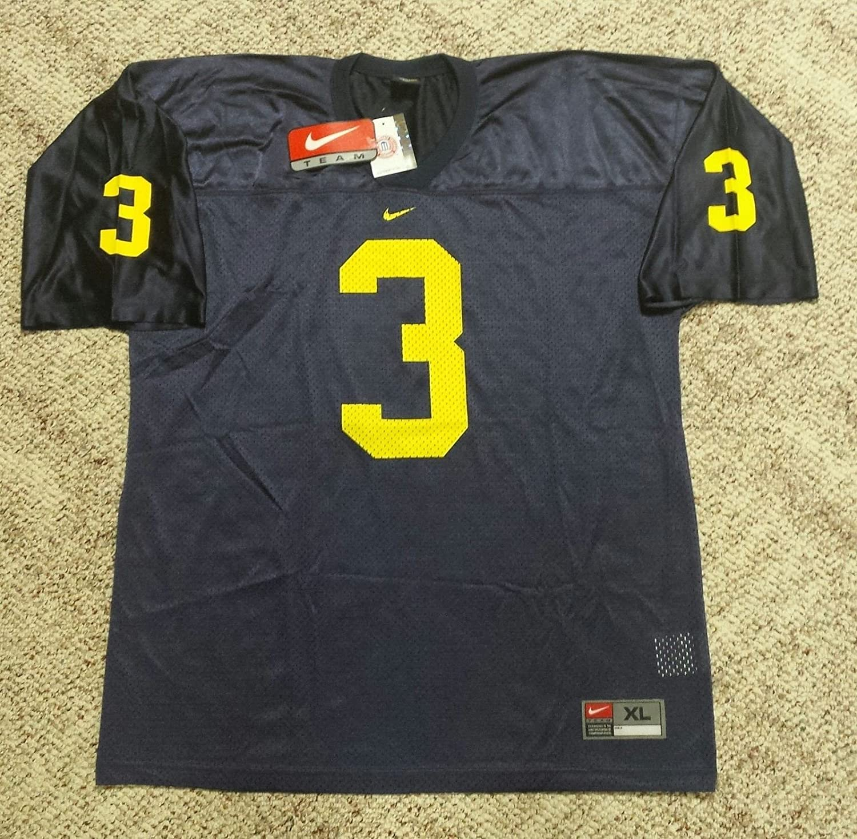 31e0c155644b9 Amazon.com : Michigan Football Jersey # 3 (blue, Adult Large ...