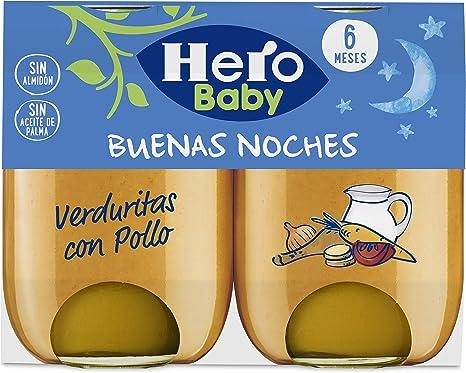 Hero Baby - Babynoches Verduritas Pollo Pack 2 x 190 g: Amazon.es: Alimentación y bebidas