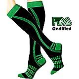 Leg Compression Socks for Women & Men Sports Running & Recovery Medical - Shin Splint from LU&BA 20-30 mmHg knee high socks – 1 PAIR