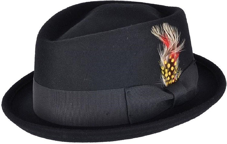 corona de diamante plegable 100/% lana hecha a mano Reino Unido con pluma extra/íble y banda a juego Sombrero de pastel de cerdo unisex