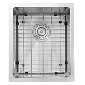 Nantucket Sinks SR1815 15 x 18-Inch Pro Series Rectangle Undermount Small Radius Stainless Steel Bar/Prep Sink