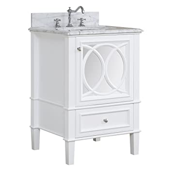 Olivia 24 Inch Bathroom Vanity Carrarawhite Includes Italian