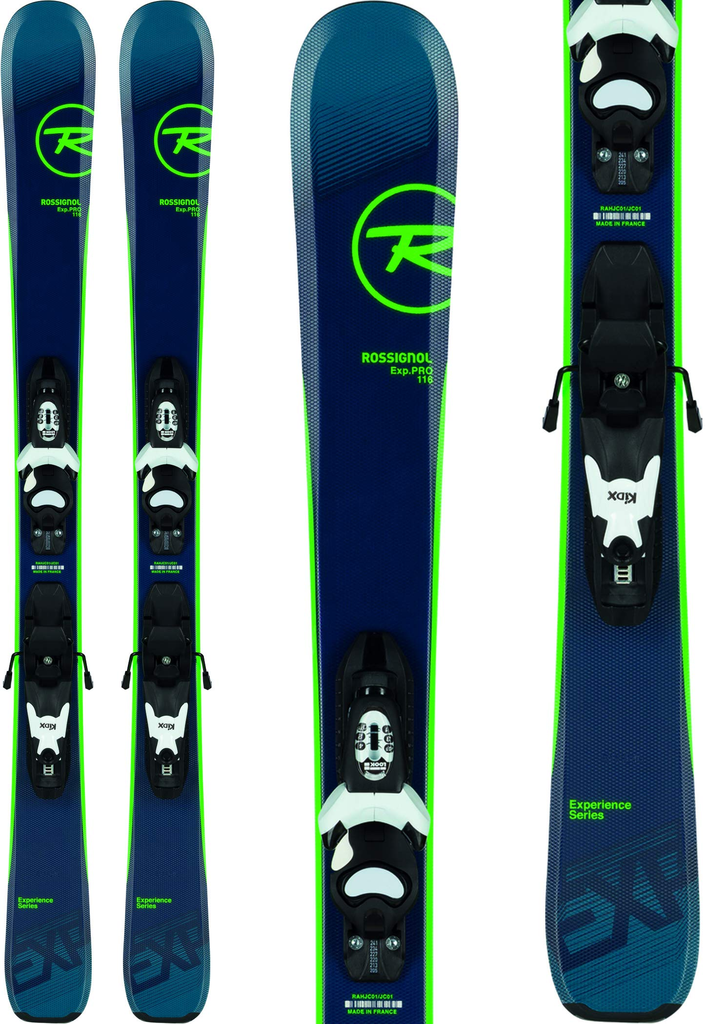 Rossignol Experience Pro/Kid-X 4 Ski Package Kid's Sz 116cm Black/White by Rossignol