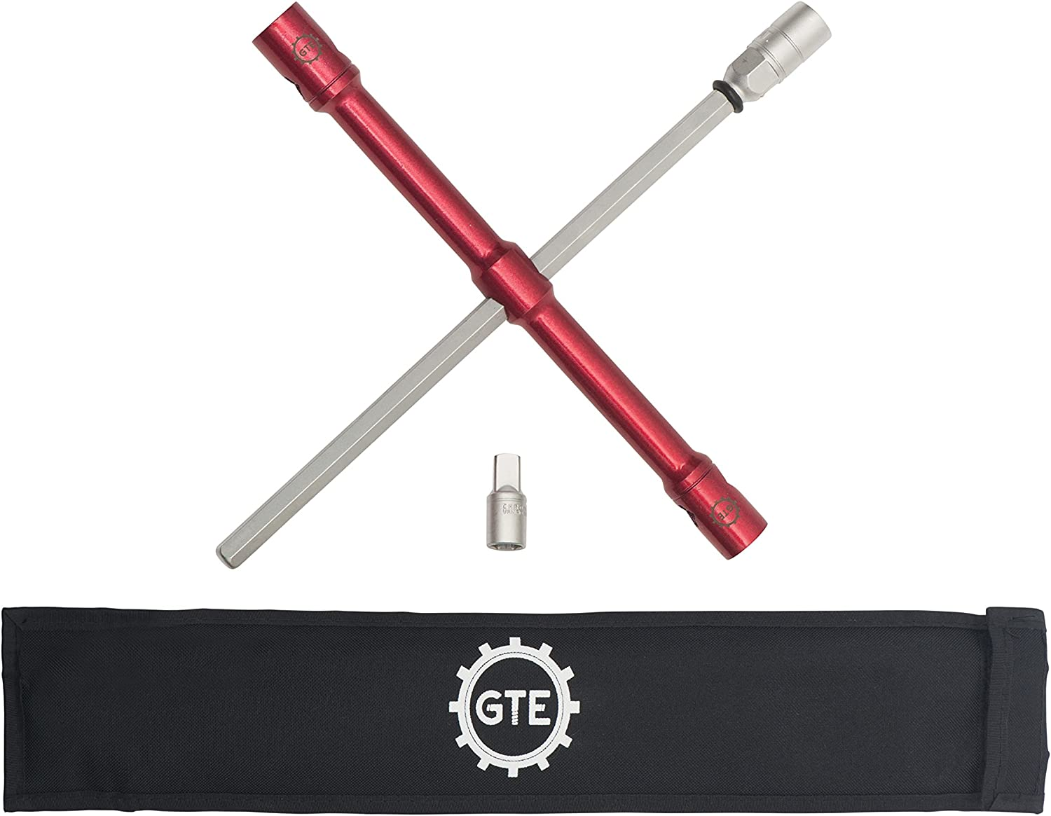 """GTE Tools - LugStrong 26"""" Universal Compact Lug WrenchSet, Super-Strong Tire Iron & Lug Nut Remover - 2X More Torque! Never Get Stuck on The Road Again!: Automotive"""